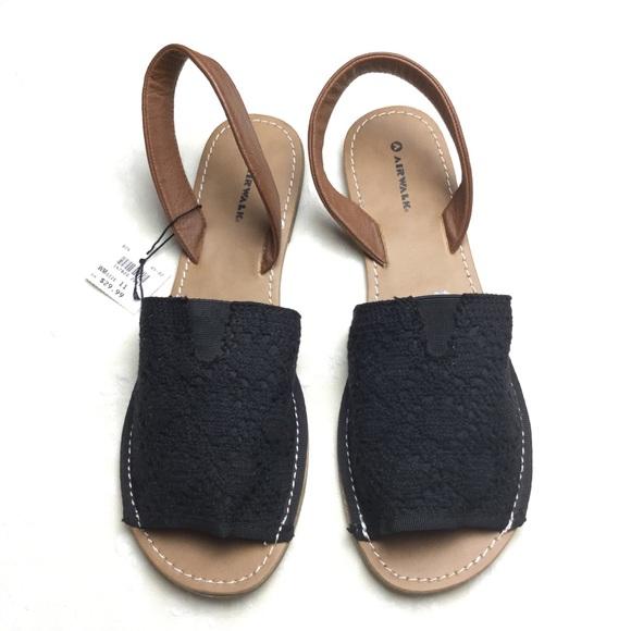 a1883f1f9020 Women s Airwalk Black Brown Sandals Size 11